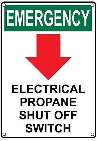 XIAODAN Placa de pared de metal retro de emergencia con interruptor de...