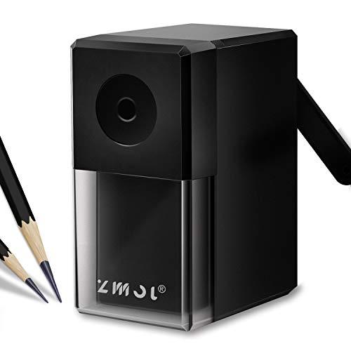 Long Point Pencil Sharpener, Manual Pencil Sharpener,Drawing Pencil Sharpener for Artists?Suitable 6-8mm Sketching/Charcoal/Colored/Graphite/Prismacolor Pencils,5 Adjustable Pencil Nibs