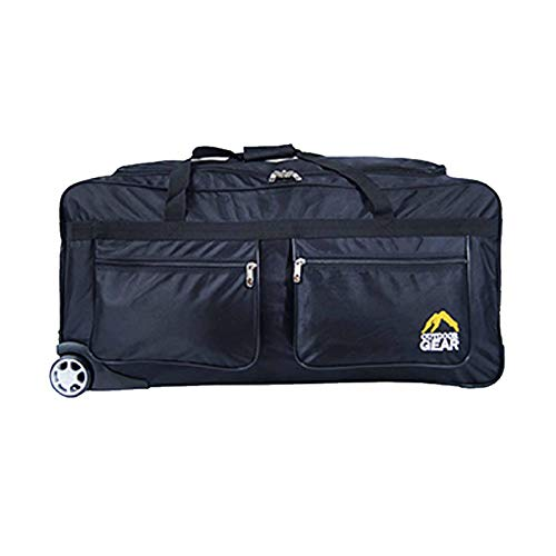 Extra Large Lightweight Wheeled Holdall Luggage Bags Travel Holiday 34 inch/Black