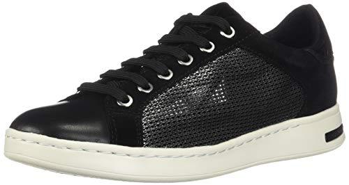 Geox D Jaysen A, Zapatillas para Niñas, Negro (Gun/Black C1223), 35 EU