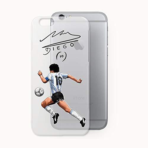 URBAN KAOS Cover Case TPU Trasparente Diego Armando Maradona 10 Argentina (iPhone 5 5S SE Trasparente)
