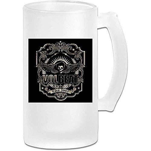 Gedruckte 16oz Milchglas Bier Stein Tasse Tasse - Volbeat Logo - Grafikbecher