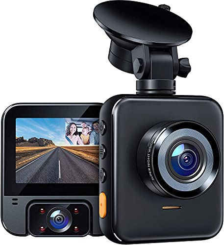 APEMAN 2K Dual Dash Cam C880, Front and 1080P Inside Car Driving Recorder, Sony Night Vision for Taxi Driver, 170° Wide Angle, WDR, G-Sensor, Parking Monitor, Loop Recording