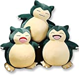 Snorlax Plush Toy Jumbo Snorlax Soft Pillow Giant Teddy (A-Small Mouth, 50CM)