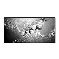 """現代美術の黒と白の愛のキスのキャンバスの絵画のポスターとプリントホームリビングルームの壁の装飾の絵画23.6""""x47.2""""(60x120cm)フレームレス"""