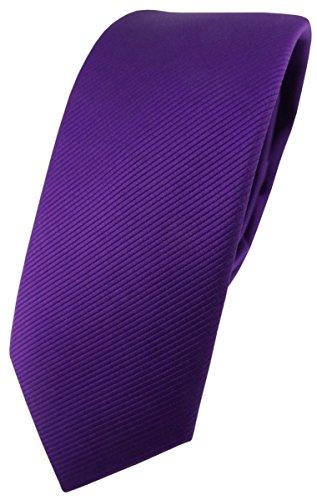 TigerTie Corbata de diseño estrecho en un solo color. Morado Talla única