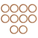 10 piezas de anillo de pistón de goma, anillos de pistón de bomba, sellos de goma anillos de pistón de compresor de aire, anillo de goma de cilindro para compresor/cilindro de aire silencioso sin acei