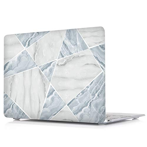 Valkit MacBook Air 13 inch Case 2010-2017 Release A1369 A1466, Plastic Hard Shell Case Only Compatible with Apple Mac Air 13 inch, Blue White Marble