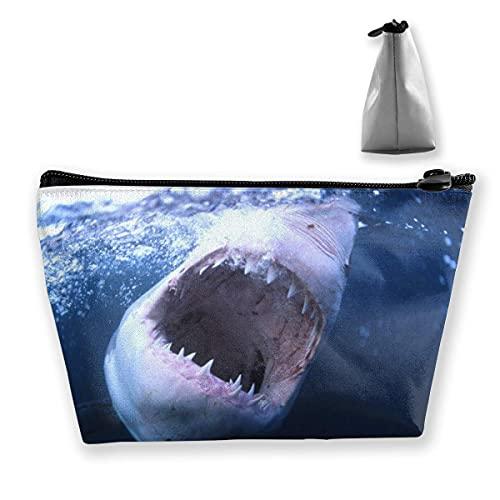Bolso de Almacenamiento Trapezoidal Personalizado Big Shark para Mujer Impermeable para Llevar Viajes
