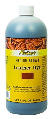 Fiebing's leather dye (teinture pour cuir) 32 oz (Medium brown (marron moyen))