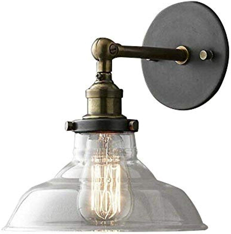 LMDH Retro Glaswandleuchte American Country Study Wohnzimmer Balkon Industrial Wind LOFT Restaurant Licht