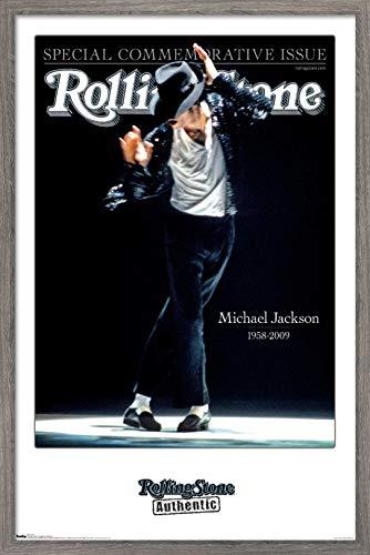 Trends International Rolling Stone Magazine - Michael Jackson 09 Wall Poster, 14.725' x 22.375', Barnwood Framed Version