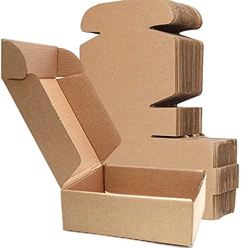 LY-YY Cajas De Cartón para Envío Cajas De Embalaje Kraft Envueltas Royal Mail Paquete Pequeño Envío Postal Envío Marrón (Paquete De 50) (Color : 50 Pack, Size : 15x15x5cm)