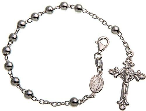 Rosenkranz Armband Alejandro 925 Silber, Länge wählbar von 18-23cm