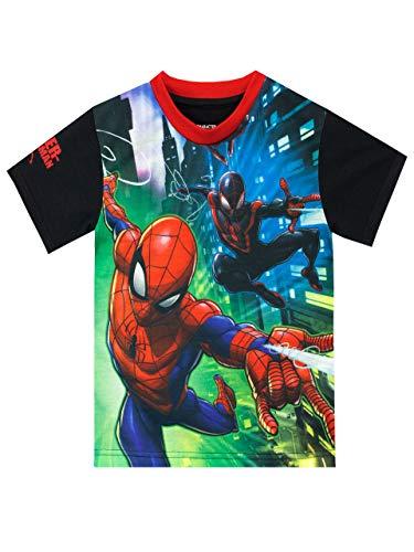 Marvel - T-Shirt - Spiderman - Garçon - l'homme Araignée - Multicolore - 6-7 Ans