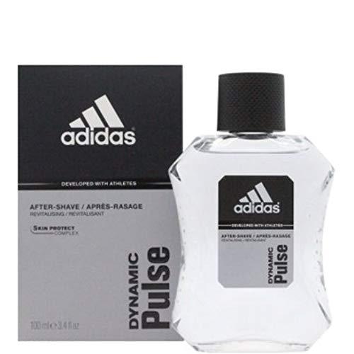 4 x Adidas After Shave - Dynamischer Puls - Gefühl von frischer Energie - 100 ml