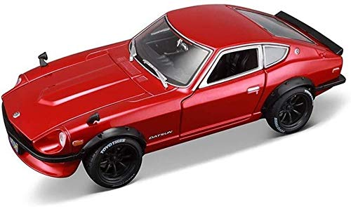 1:18 Escala 1971Datsun 240Z Modelo de simulación de Coches, Altamente Detallada aleación de Metal Fundido Modelo, Modelo Exclusivo de colección, Roadster Car Model Kit, 23x10x6.5CM