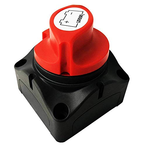 Battery Disconnect Switch Isolator Master Switches for Marine Boat Car Vehicles 12V/24V Battery Switch Master Isolator Cut On/Off Disconnect Switch for RV Battery Marine Boat Car Vehicle Waterproof