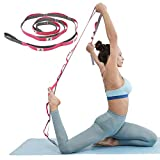 KerKoor Yoga Stretch Out Hamstring Strap, Multi Loops Adjustable Exercise Band for Stretching, Physical Therapy, Workout, Pilates, Dance and Gymnastics with Carry Bag