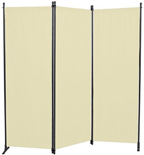 Angerer Paravent 3-tlg. PE-Gewebe beige, 630/006/12,165 x 2 x 165 cm