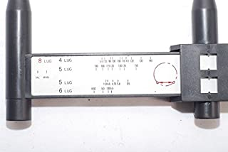 eoocvt Bolt Pattern Sliding Measuring Tool Wheel Rim 527 Gauge 4 5 6 8 Lug PCD Ruller