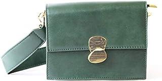 لينز حقيبة طويلة تمر بالجسم نسائية ، جلد صناعي - اخضر