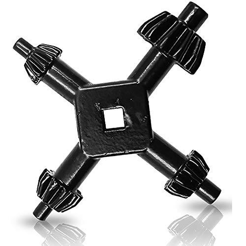 Amecty 4-in-1-Bohrfutterschlüssel 4-fach-Spannschlüssel für Bohrmaschinen, Universal-Kraft- und Hammerbohrerschlüssel für 4 Größen von 6 mm bis 16 mm