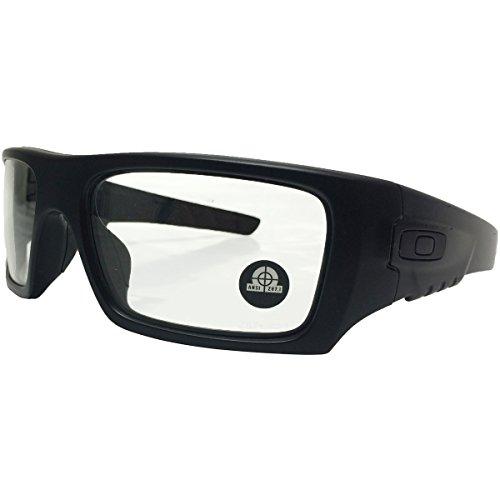 Oakley Men's OO9253 Det Cord Rectangular Sunglasses, Matte Black/Clear, 61 mm