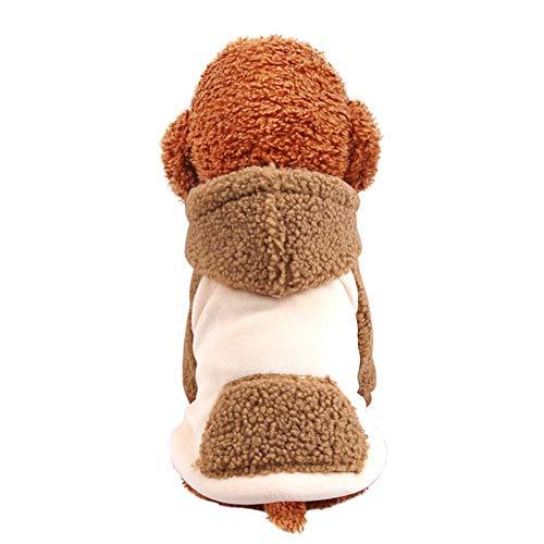 Cappotto Caldo per Cani con Cappuccio Abbigliamento Invernale per Cani di Piccola Taglia Giacca per Cuccioli Abbigliamento Chihuahua Maglione Abbigliamento Maglione