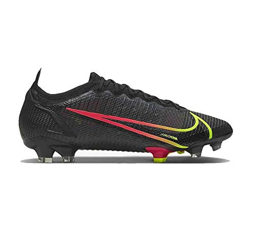 Nike Vapor 14 Elite FG, Zapatillas de ftbol Unisex Adulto, Black Cyber Off Noir Rage Green Siren Red, 47 EU