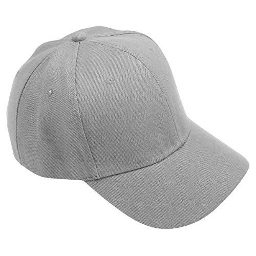 LIOOBO Einstellbare Baseballmütze Baseballmütze UV-Schutz Baumwolle Baseballmütze für Damen Herren (Grau)