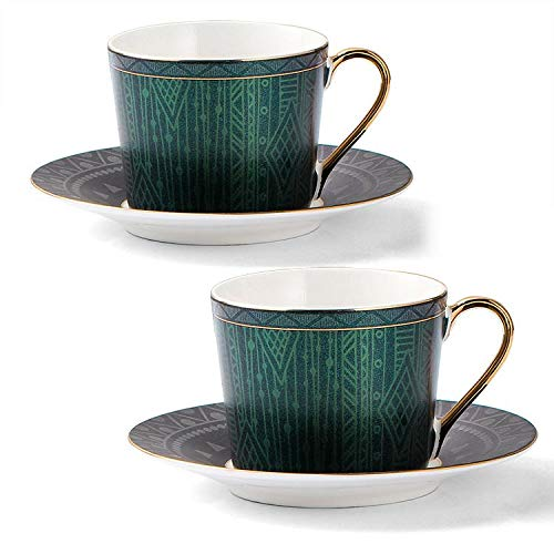 Lekoch Tea Cups and Saucers Sets wi…