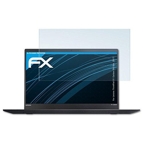 atFolix Schutzfolie kompatibel mit Lenovo ThinkPad X1 Carbon 5th Gen. 2017 Folie, ultraklare FX Bildschirmschutzfolie (2X)