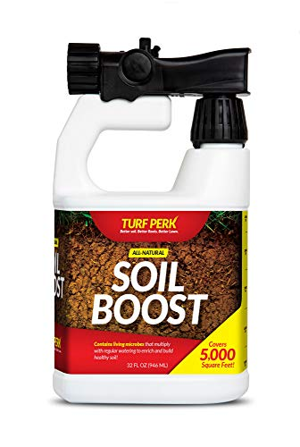 Turf Perk Soil Boost Microbe Mix Lawn Treatment   Soil Repair and Prepare Lawn Starter Solution - All Natural Soil Food for All Types of Grass. Better Soil, Better Roots, Better Lawn