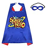 D.Q.Z Kids Superhero Cape and Mask for Girls Boys, Super Hero Dress Up Cape, Birthday Party Gifts for 3+ Years Old Children (Blue-Red)
