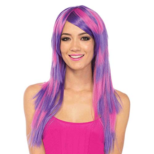 Leg Avenue Women's Cheshire Laye Two Tone Wig, Pink/Purple, One Sizes Fit Most