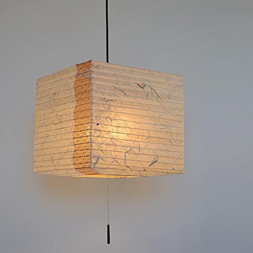 彩光デザイン『和風照明2灯ペンダントライト キューブ』