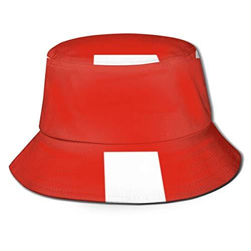 Gorras Bandera Suiza Sombrero de Pescador Verano Sol Pesca Fisher Beach Festival Gorra Gorra de Playa Plegable