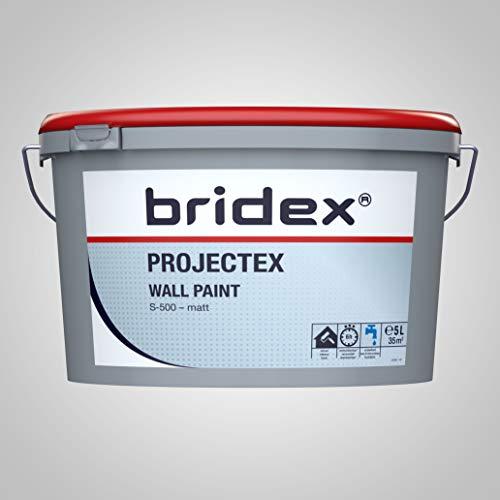 Bridex J621824 Projectex Wall Paint weiße Innen Wandfarbe, 5L