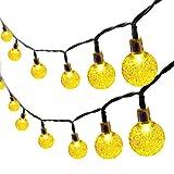 DHYED Cadena de luces LED solar para exteriores, resistente al agua, bolas de cristal, iluminación de jardín, bombillas solares para jardín, terraza, árboles, patio, casa, fiesta, boda, decoración