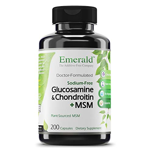 Emerald Labs Glucosamine Chondroitin with MSM - Joint Essentials - Supports Overall Joint Health, Supports in Alleviating Pain and Stiffness, Cartilage Support - 200 Capsules