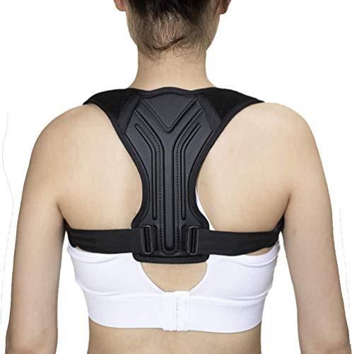 DLLY Rückentrainer Einstellbar Haltungskorrektor für Männer und Frauen - Übergröße Geradehalter zur Haltungskorrektur Rückenstütze Rückentrainer für Den Oberen Rücken,Black,XS