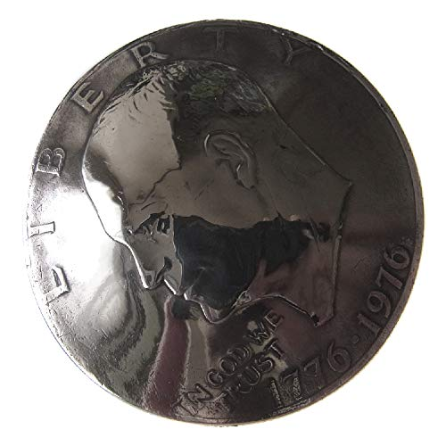 コンチョ ネジ式 USA アメリカ合衆国 大サイズ$ 1ドル硬貨 アイゼンハワー Eisenhower 自由の鐘と月 200周年記念硬貨 古銭 メダル コイン ネジ付 スクリューバック シカゴスクリュー ボタン カスタム 長財布 ウォレット キーケース バ