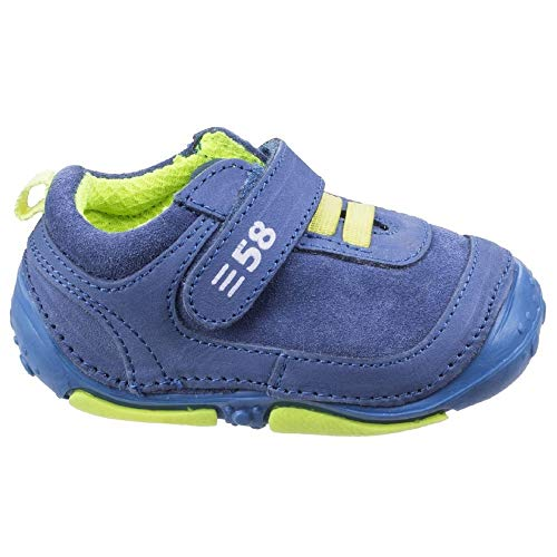 Hush Puppies Kinder/Jungen Harry Klettverschluss Leder Trainers (19 EU) (Blau)