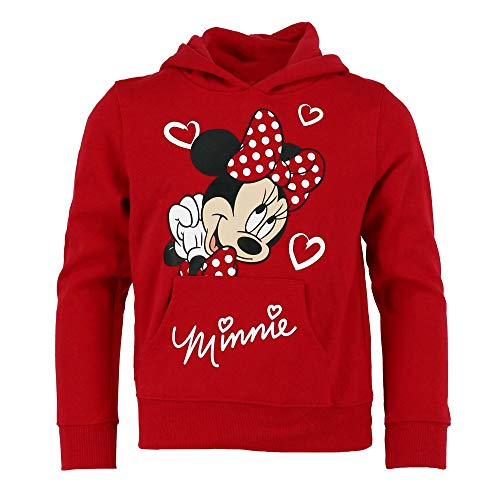 Disney Youth Girls Minnie Love Pullover Hoodie Red X-Small