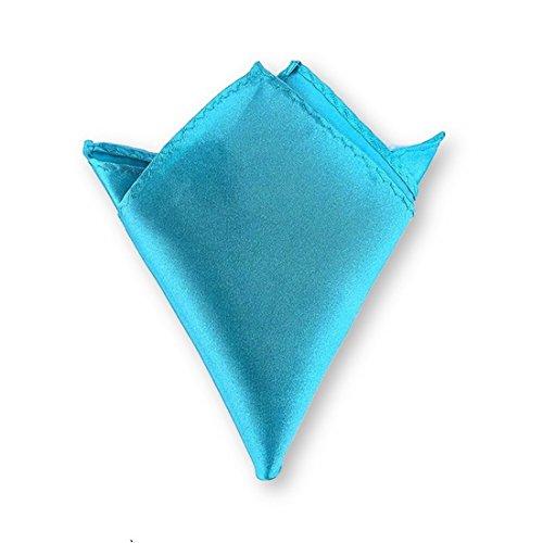LABEL-CRAVATE Pochette homme, Mouchoir de costume en tissu bleu-turquoise