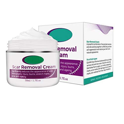Bosixty Scar Removal Cream For Old Scars- Stretch Mark Removal Gel for Men & Women- Stretch Marks Relief and Burns Repair, Face Skin Repair Gel