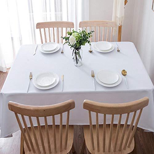 EDCV Home tafelkleed Wit Effen stof Katoen en linnen Gepersonaliseerd bruiloftstafelkleed Rond tafelkleed Vierkant tafelkleed, wit