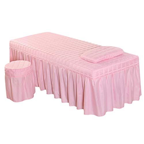 SM SunniMix Cubierta de Colchón Feder Falda de Mesa para Salón de Cama Cosmética de Belleza - Jade Pink-S