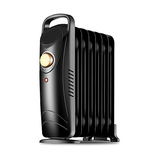 DAETNG Mini Electric Slim Ölgefüllter Heizkörper, 700 W, freistehend, kleine tragbare elektrische Heizung, Sicherheits-Kippschalter, Einstellbarer Thermostat, Überhitzungsschutz